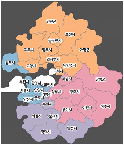 경기도권역지도